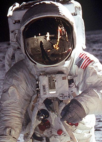 Buzz Aldrin Walking on the Moon Apollo 11 Poster 12x12   eBay