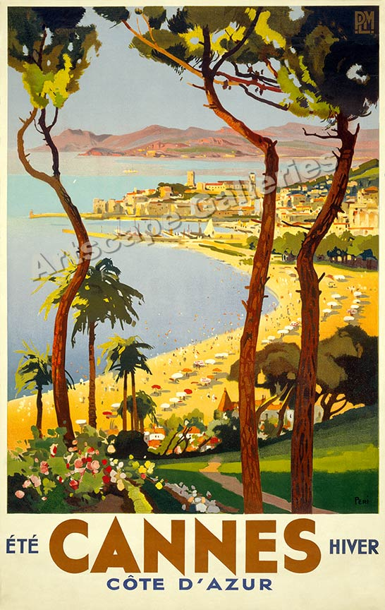 Cannes Vintage Style 1930s French Travel Poster - 24x38 : eBay