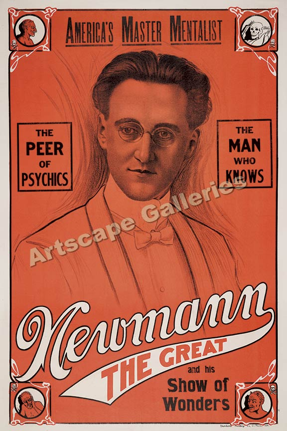Newmann The Great Psychic Classic Magic Poster 16x24