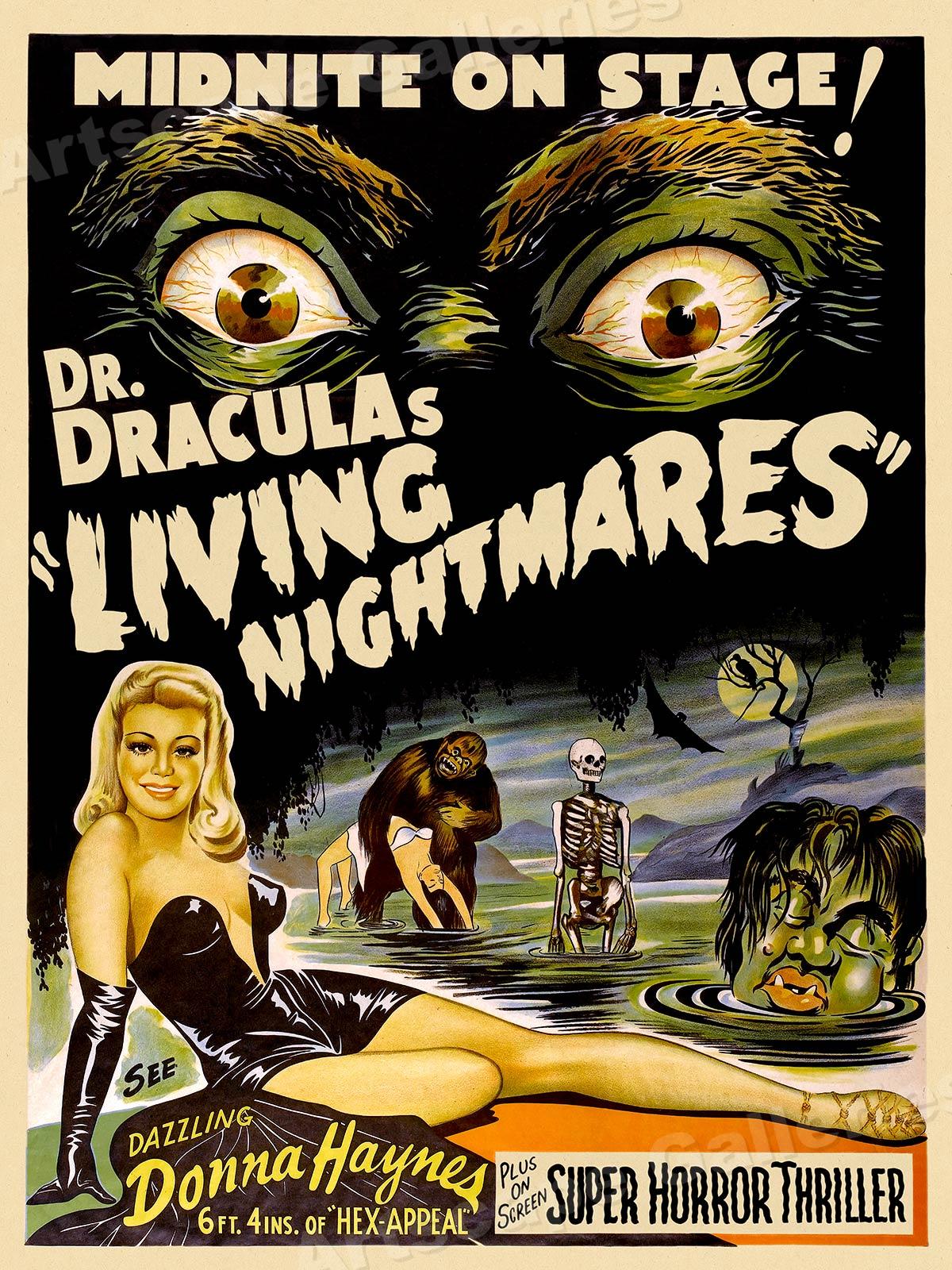 1950s Draculau2019s Living Nightmares Classic Sci-Fi Monster ...