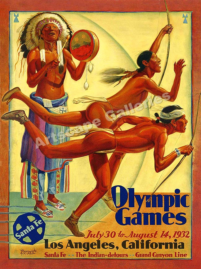 1932 posters vintage olympics