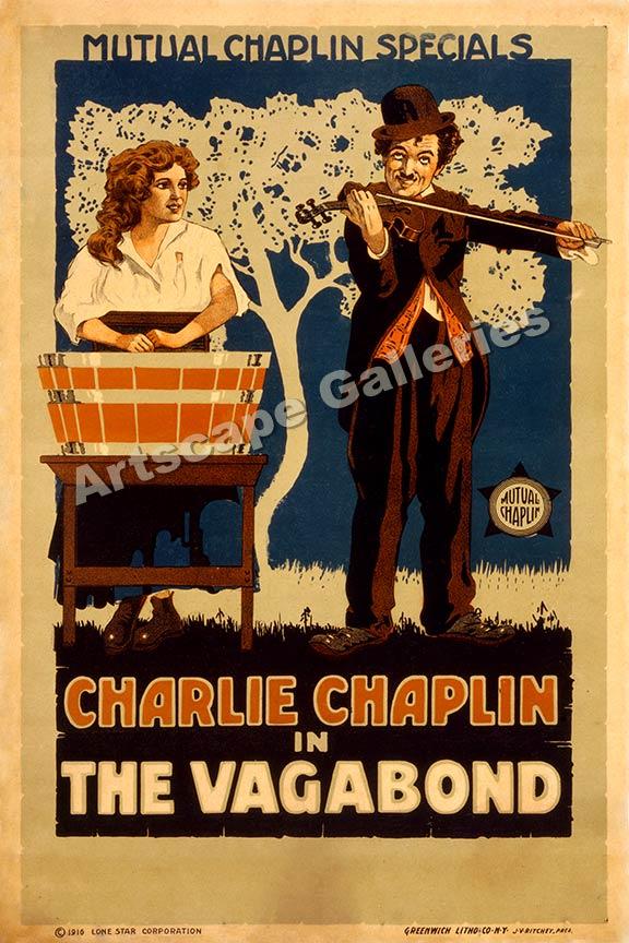 Charlie Chaplin in The Vagabond 1916 Movie Poster 24x36 | eBay