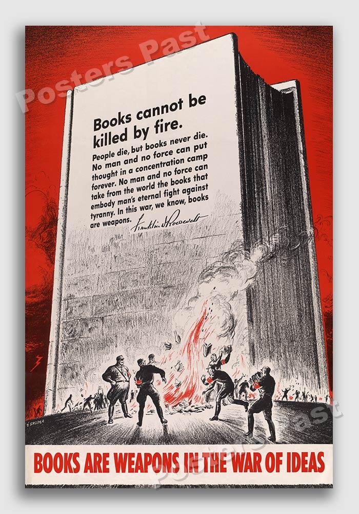ADVERT AMERICAN WAR BOOKS FRANKLIN ROOSEVELT WEAPONS ART POSTER PRINT LV6935