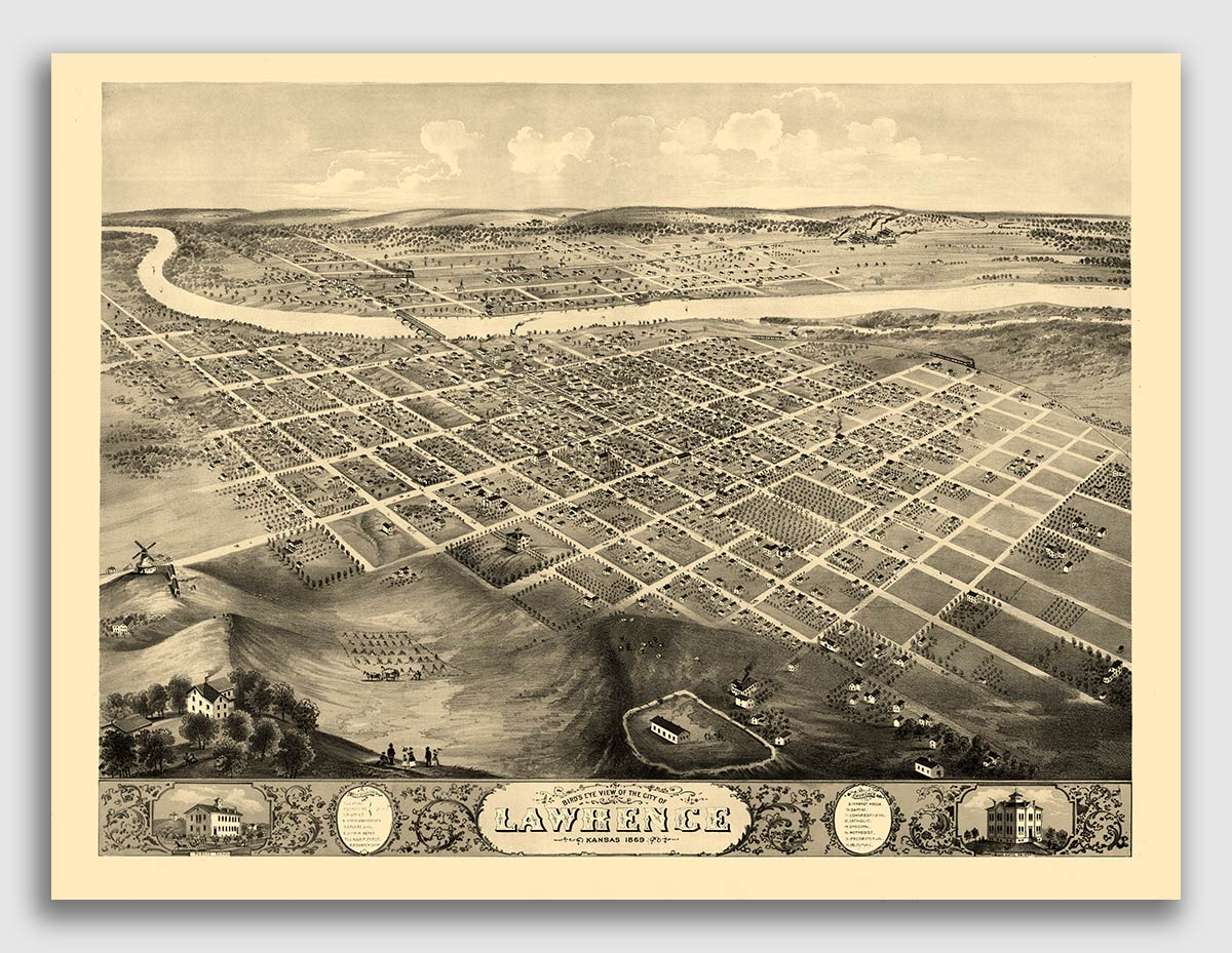 1885 Vicksburg Mississippi Vintage Old Panoramic City Map 20x28