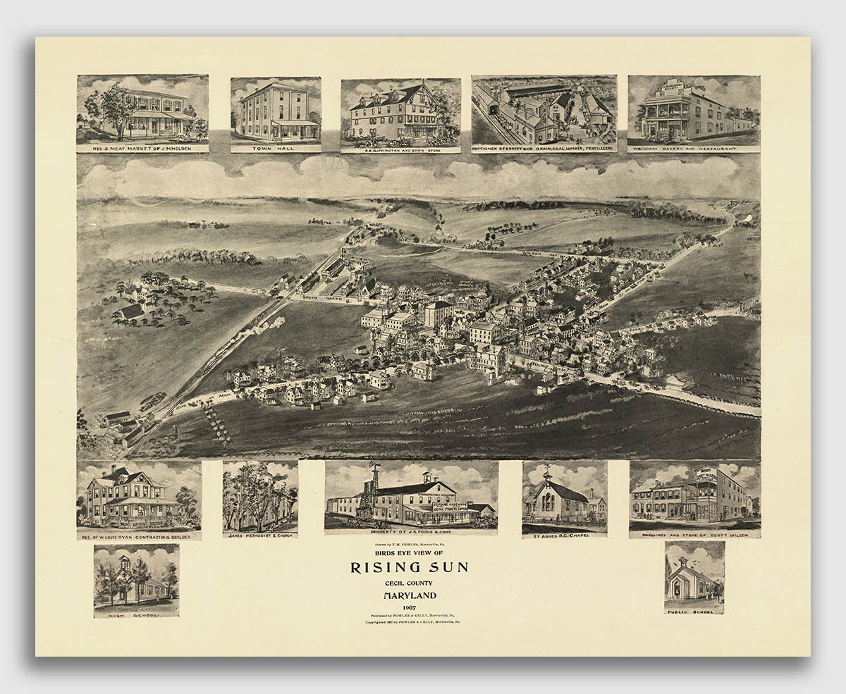 24x36 Vintage Reproduction Historic Map City of New York New York County 1907