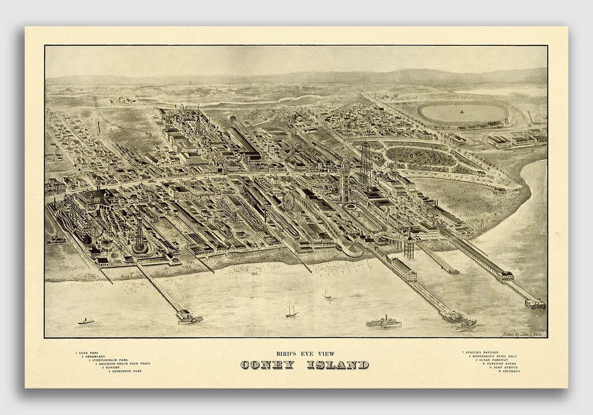 24x32 Gloversville New York 1875 Historic Panoramic Town Map