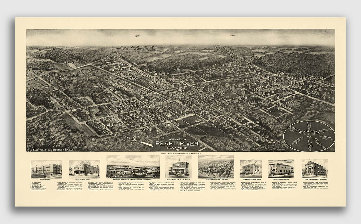 20x30 1859 Central Park New York Vintage Old Panoramic NY City Map