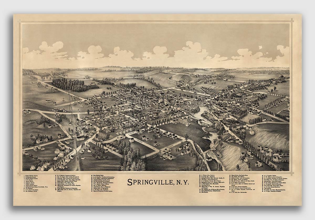 Washington DC 1892 Historic Panoramic Town Map 24x36