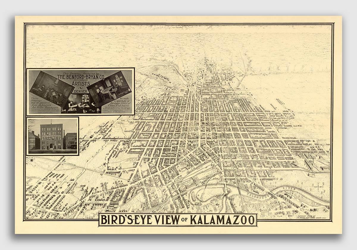 24x36 Montgomery Alabama 1887 Historic Panoramic Town Map