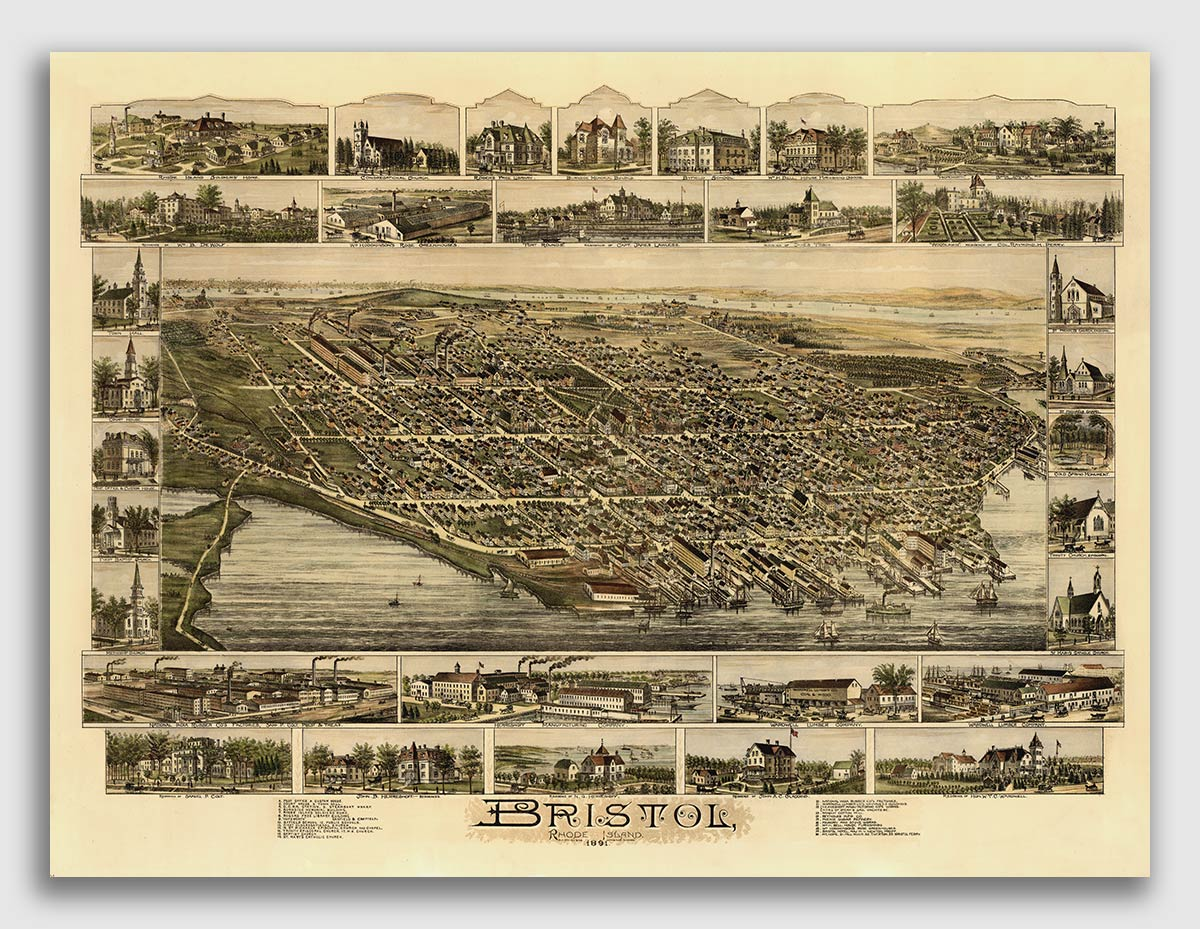 Great Falls Montana 1891 Historic Panoramic Town Map 24x36