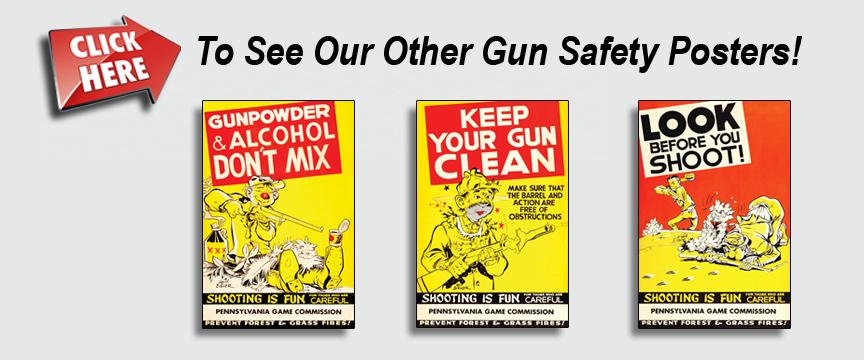 16x24 Unusual 1950s Gun Safety Poster Gunpowder /& Alcohol Don/'t Mix