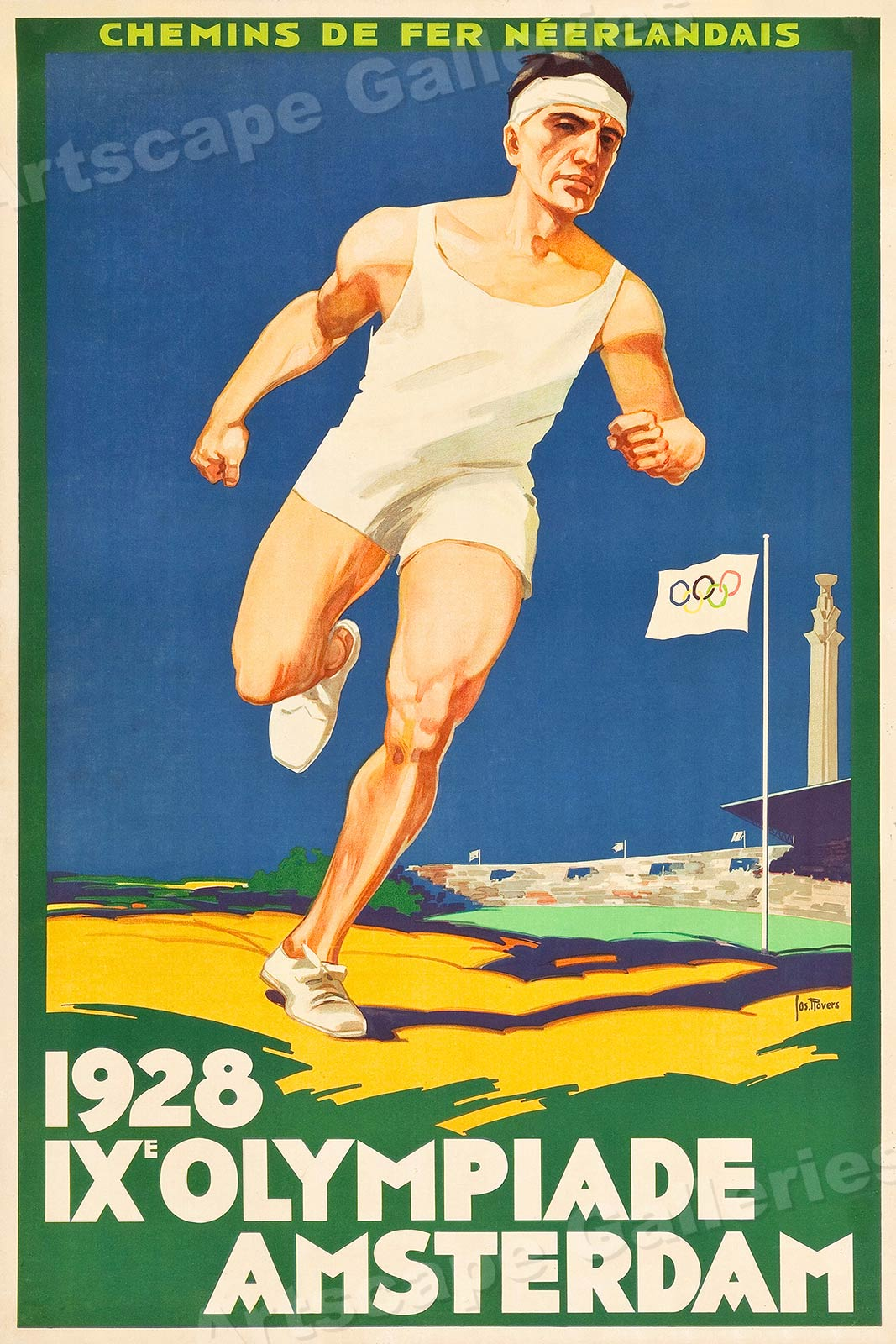 It is a graphic of Dramatic Vintage Sports Posters