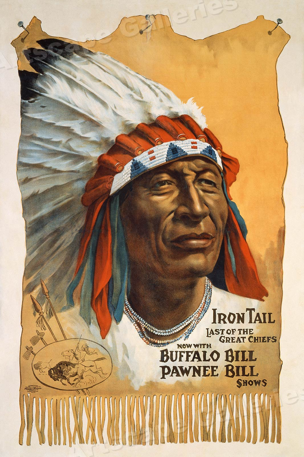 1912 Buffalo Bill/'s Wild West Show Native American Indian Poster 18x24