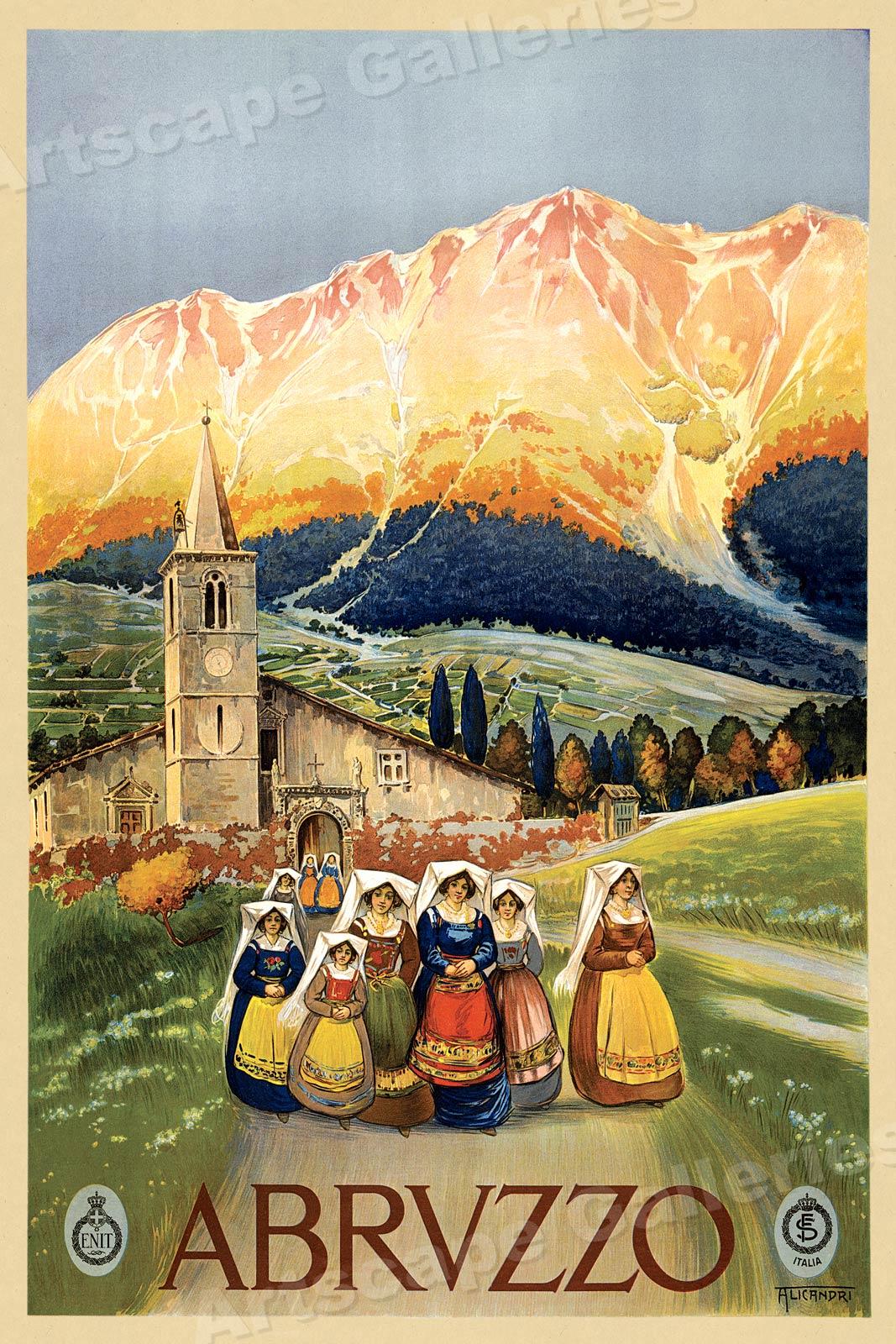 "1920s /""Amalfi Italy/"" Italian Coast Classic Vintage Travel Poster 20x30"