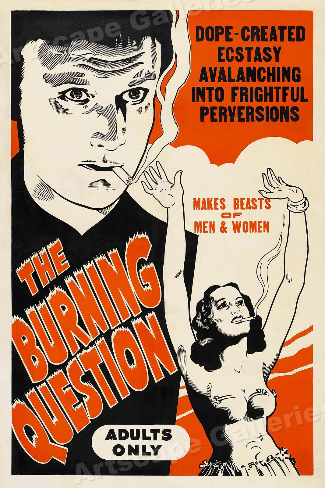 Marijuana  Reefer 1937 Vintage Style Movie Poster 20x30
