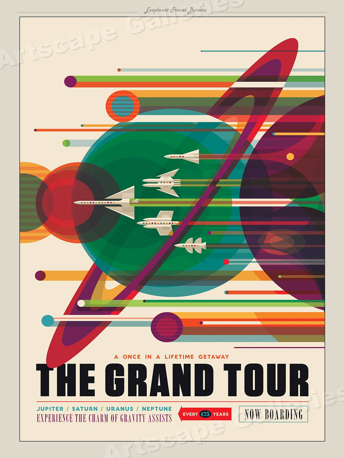 "Grand Tour Of Europe S Greatest: ""Grand Tour Of The Solar System"" Space Exploration Retro"