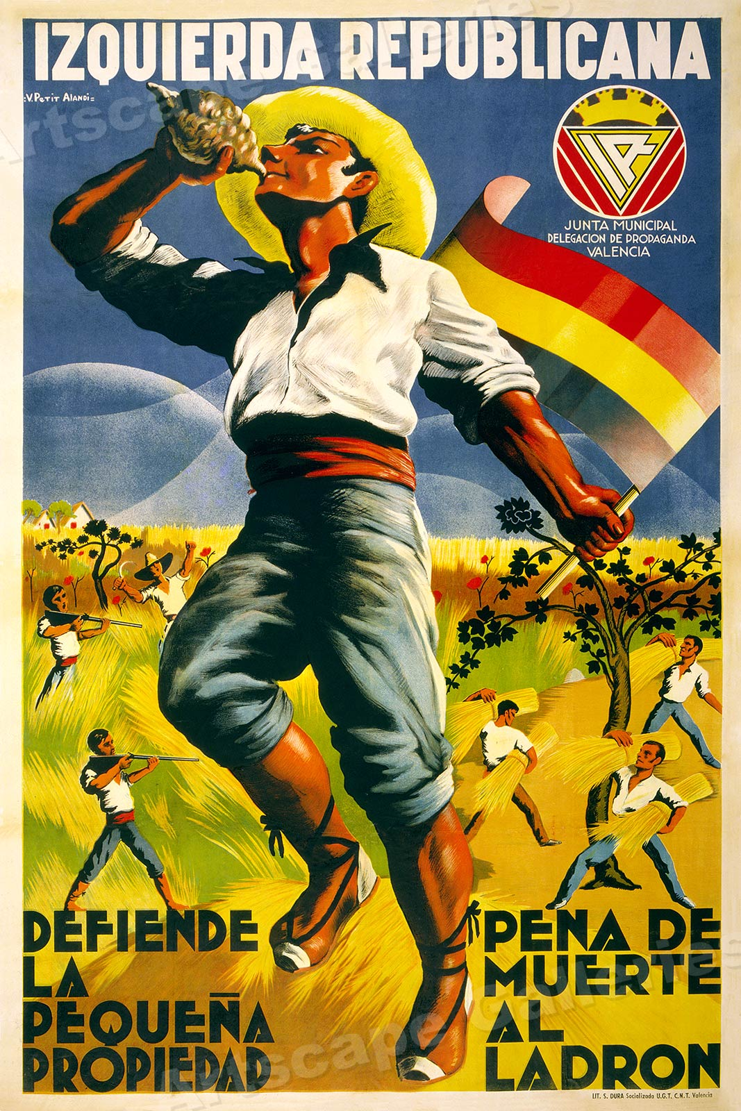 1930s Spanish Civil War Poster 16x24 Farmers Inform Yourself