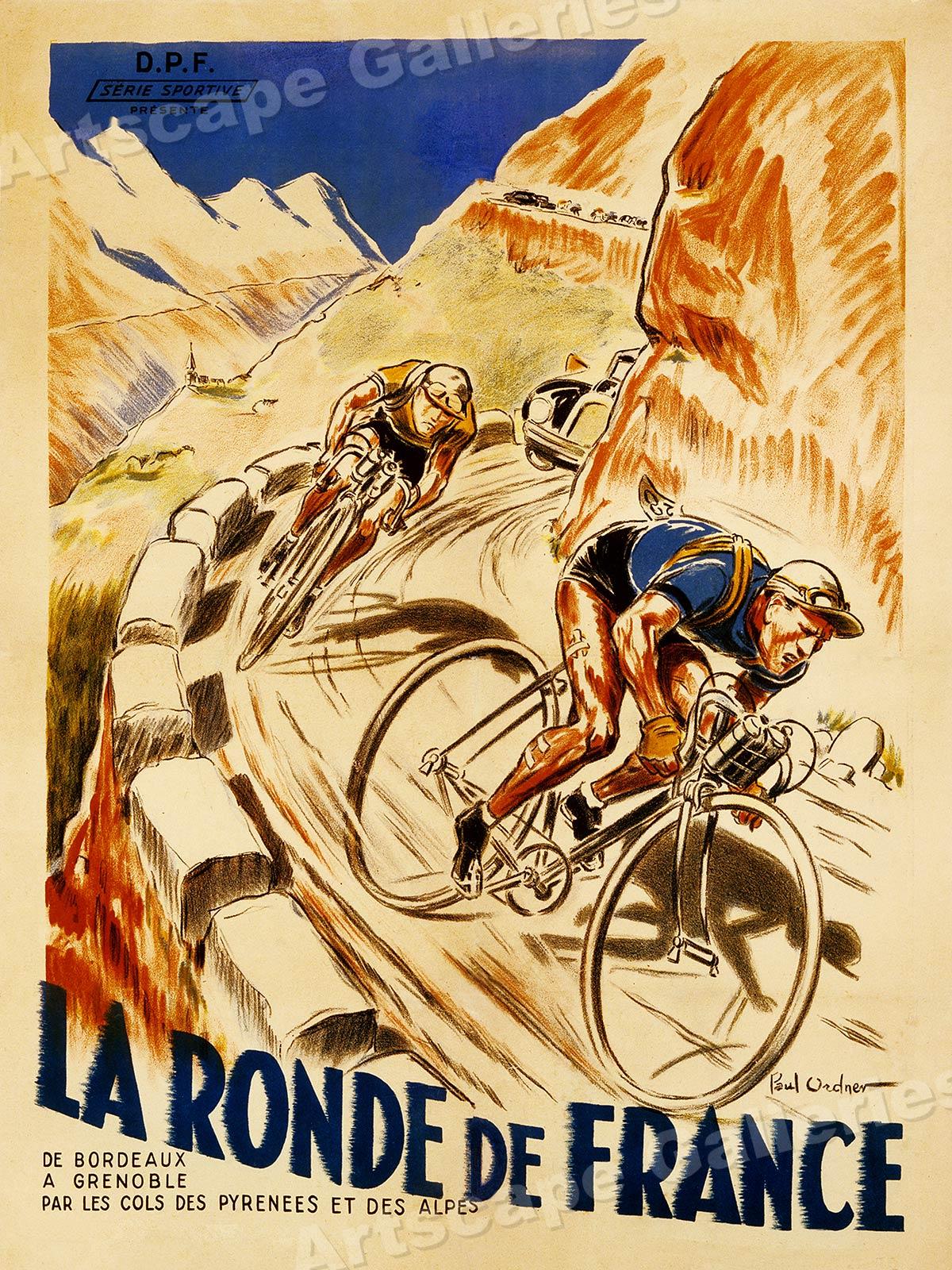 La Ronde De France Bicycles 1928 Vintage Cycling Tour Poster 18x24 Ebay