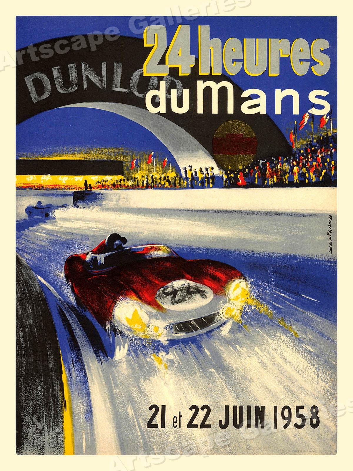 1958 Grand Prix Vintage Style Automotive Racing Poster 20x30 Art