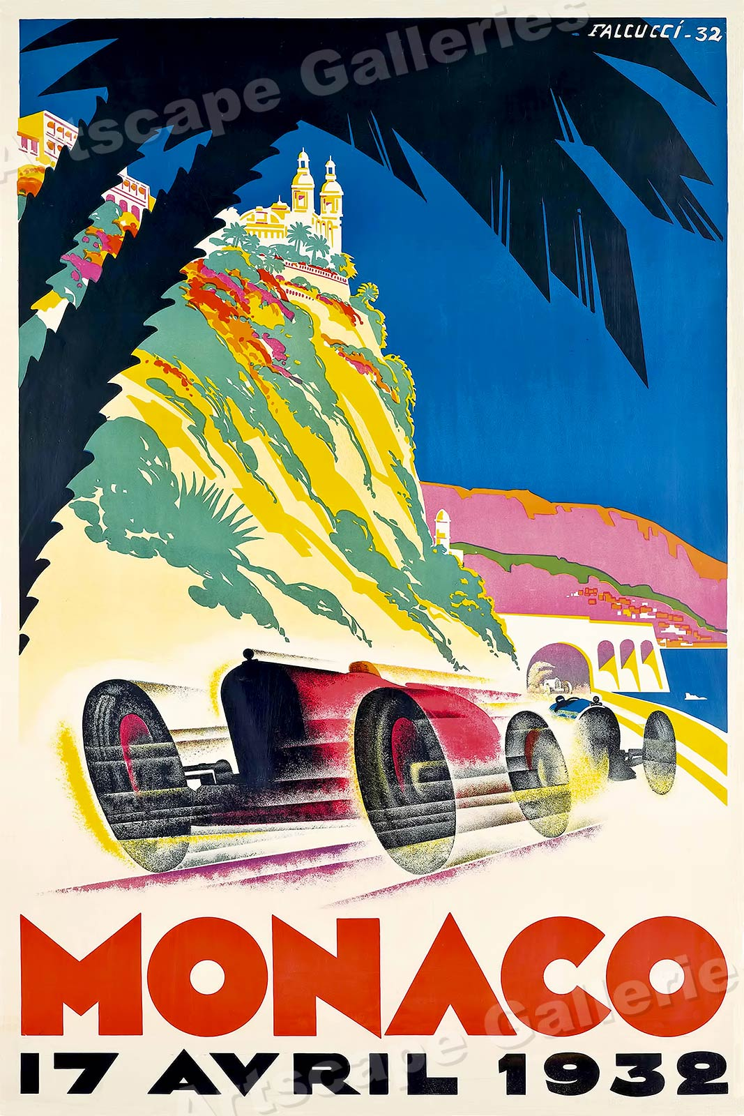 1937 Italian Grand Prix Road Race Vintage Style Auto Racing Poster 18x24