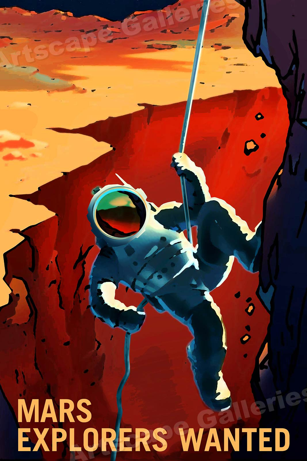 20x30 Retro Style Space Exploration Poster Some User Assembly Required