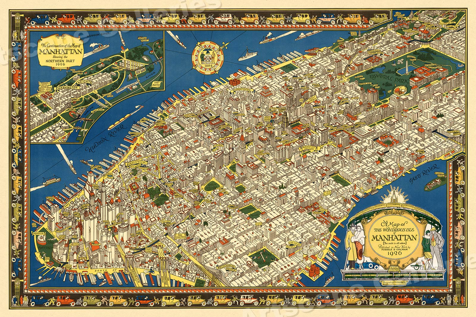Details about Manhattan 1926 New York City Pictorial Map - 16x24 on new jersey, statue of liberty new york map, los angeles, empire state building, new york state map, new york, new york map, united states of america, charleston map, boston map, ny map, staten island map, madison square garden map, harlem map, east village new york map, statue of liberty, san francisco, times square map, central park map, world trade center, queens map, 5 burrows of new york map, manhattan map, times square, florida map, las vegas, los angeles map, long island map, brooklyn map, central park,