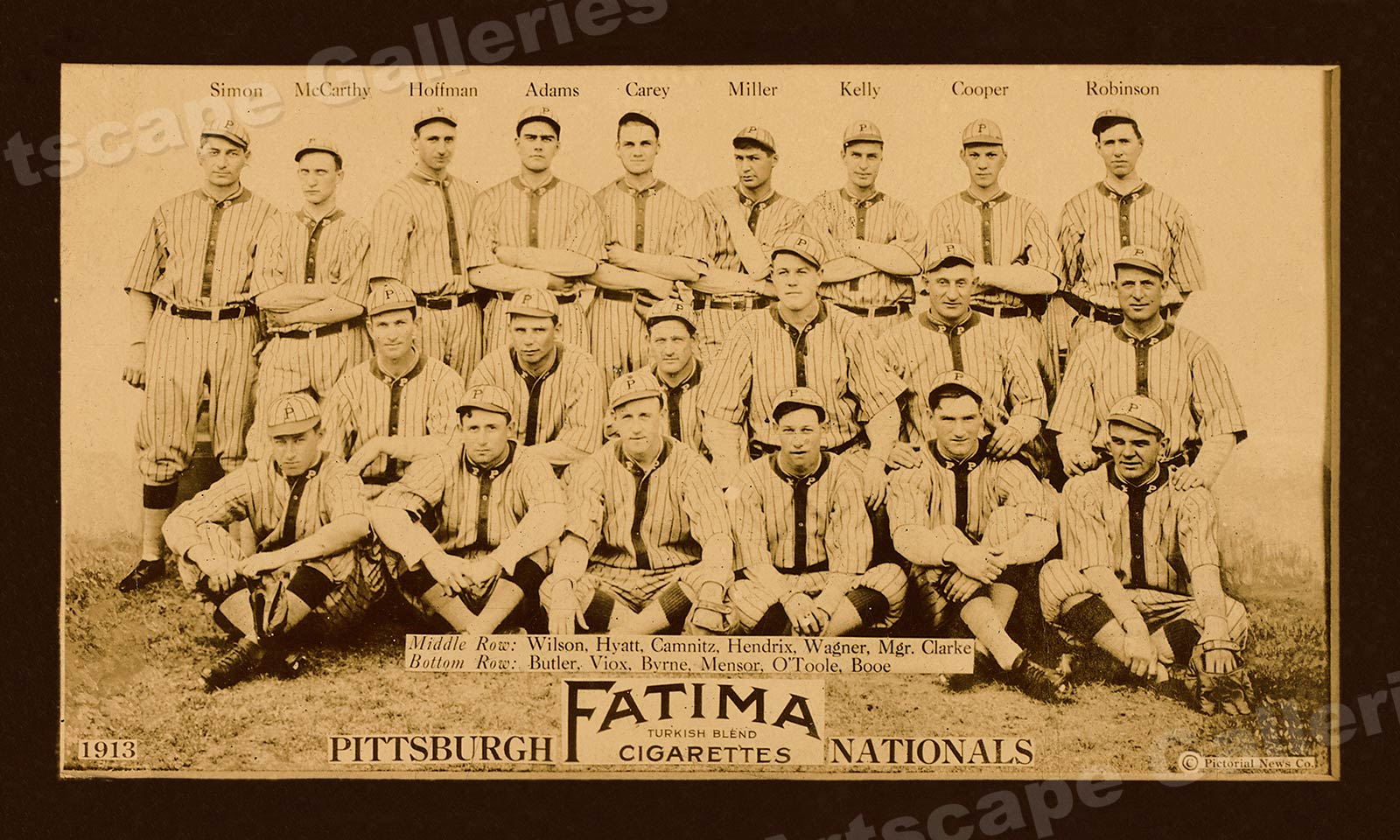 1913 Pittsburgh Pirates Classic Baseball Team Photo Poster 12x20
