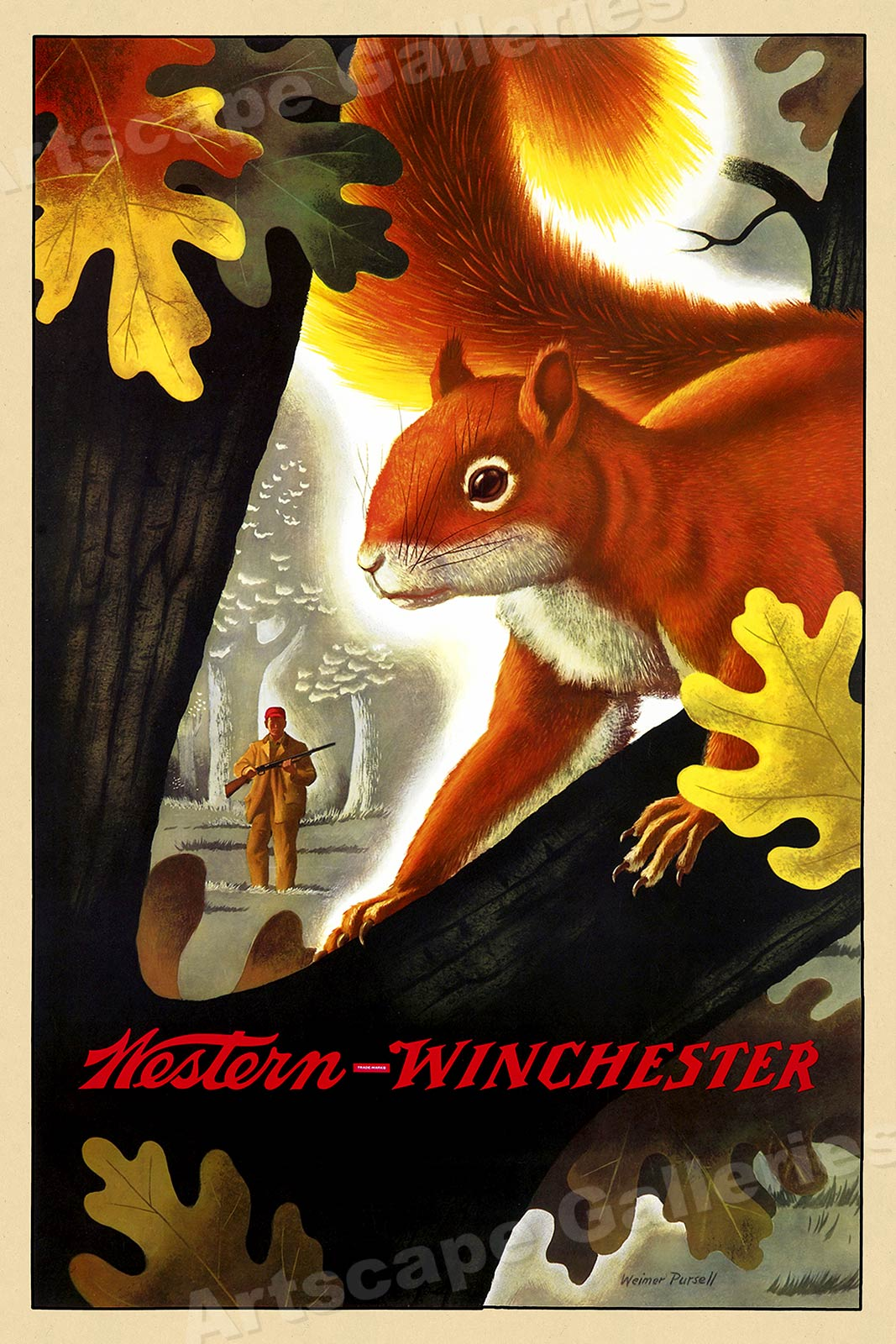Wall art. Winchester Vintage British Rail travel Reproduction poster