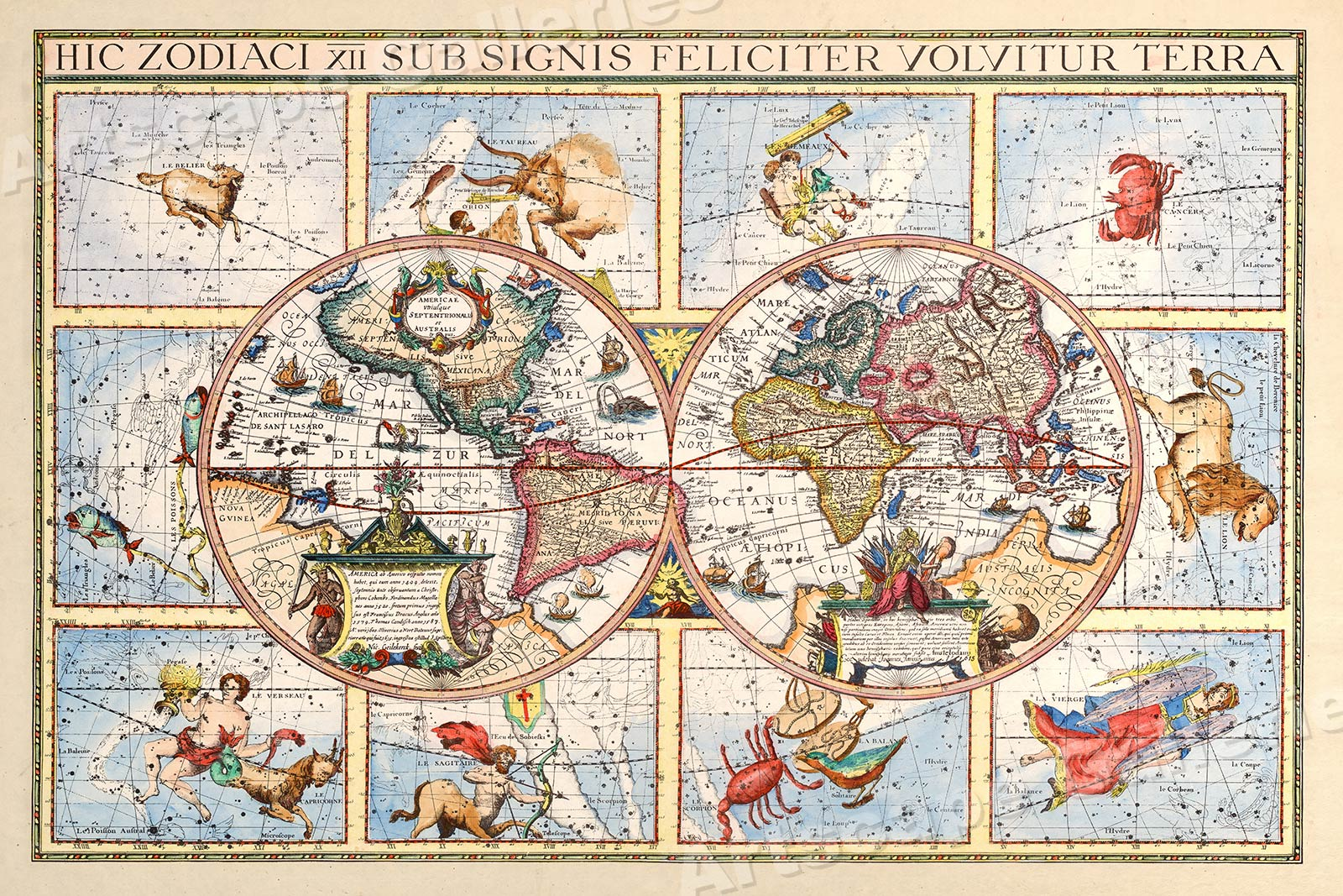 Details about 1615 Astrology Unusual Historic Old World Zodiac Map on story map, skagen map, cat map, moon map, earth map, everest map, scorpius map, complete astrology map, astrology chart map, ancient greek astronomy map, zombie map, fire map, monkey map, titanic map, capitals of the world map, astrological sign map, constellation map, world war z map, azimuth map, flags of the world map,