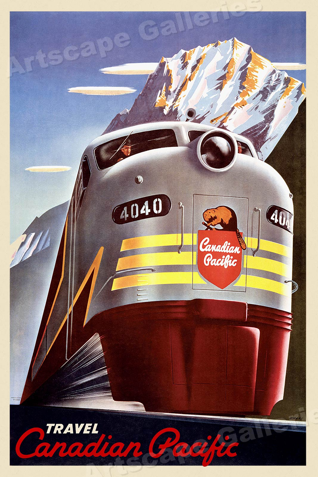 1950s Canada By Train Vintage Style Candian Pacific Travel