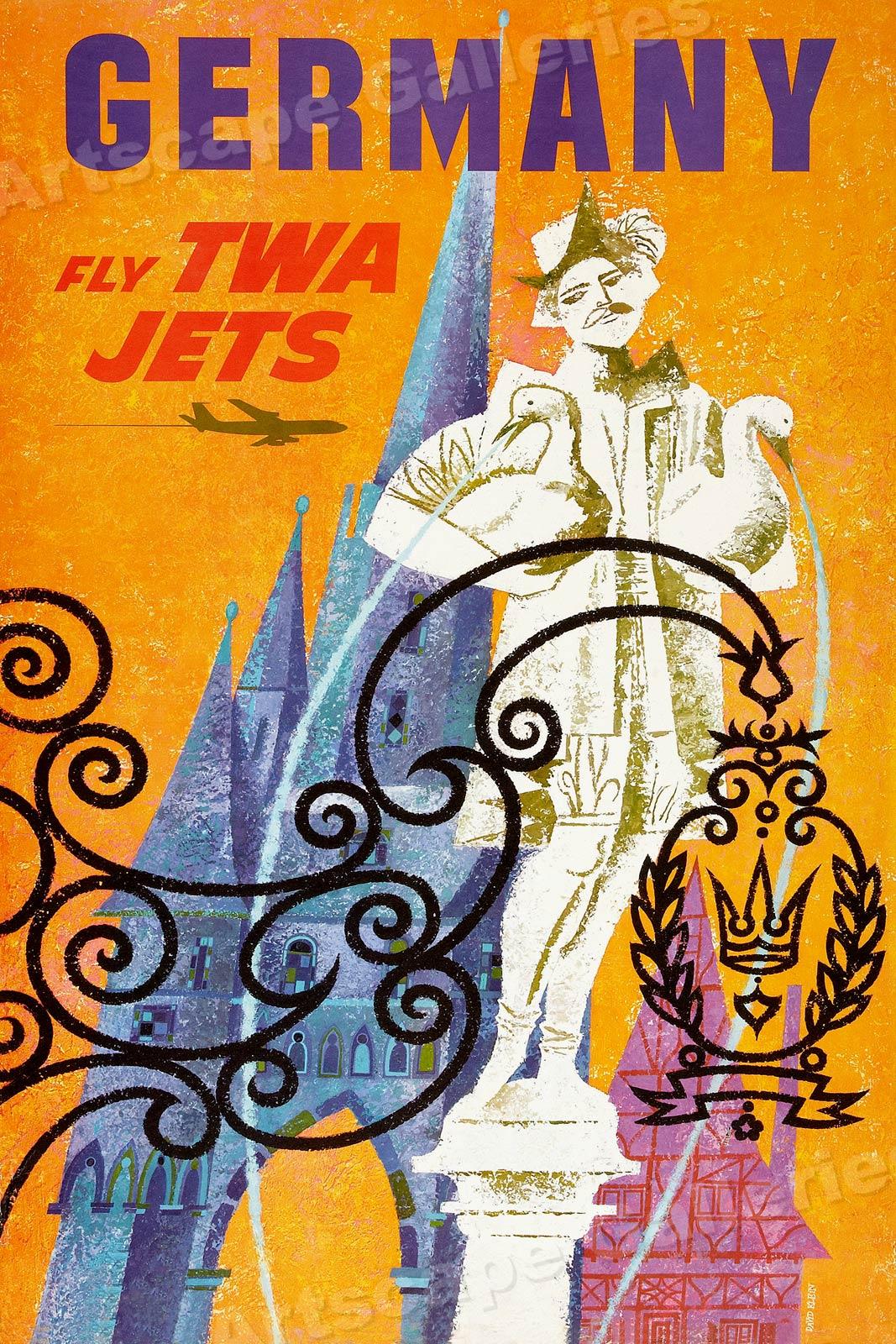 Verona Italy 1938 16x24 Vintage Style Travel Poster