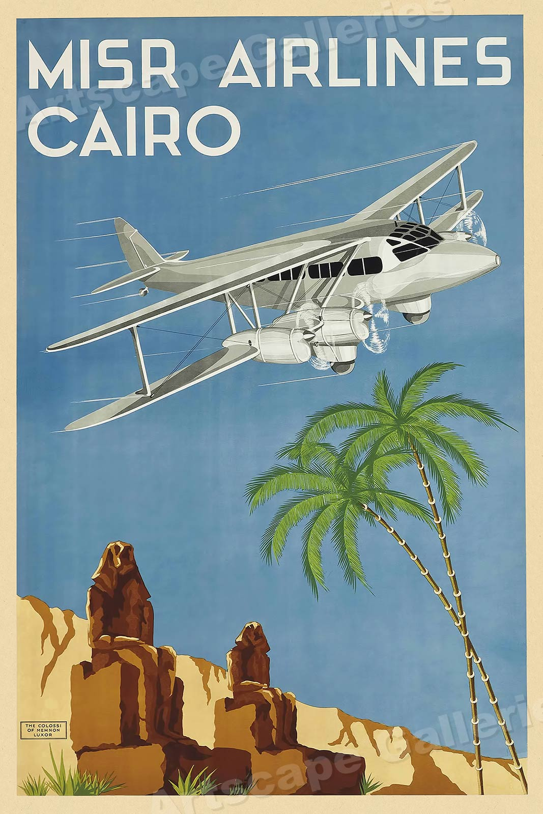 16x24 Condor Airlines Vintage Style Travel Poster Rio Brazil