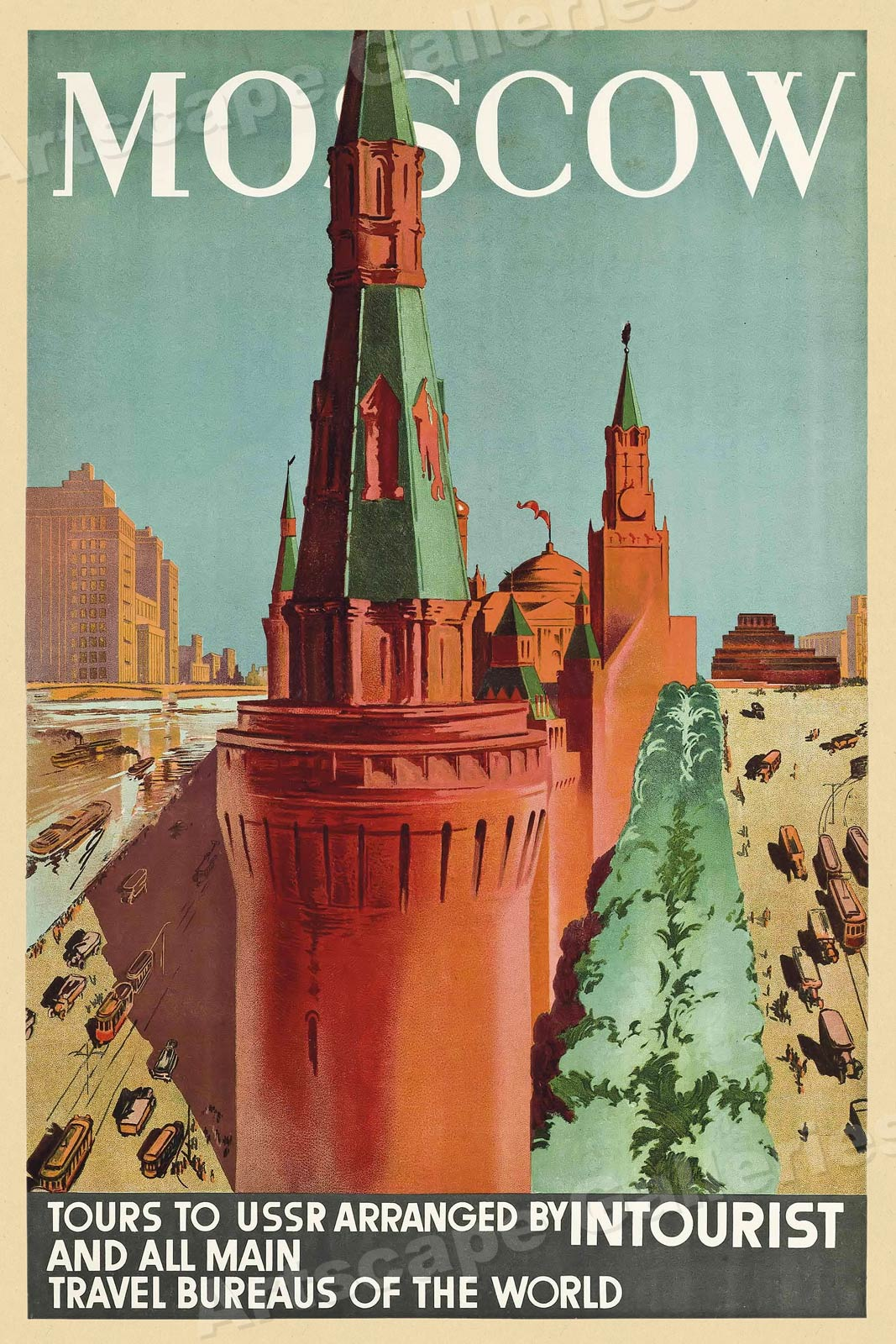 1930s Moscow Intourist Vintage Style Soviet Russia
