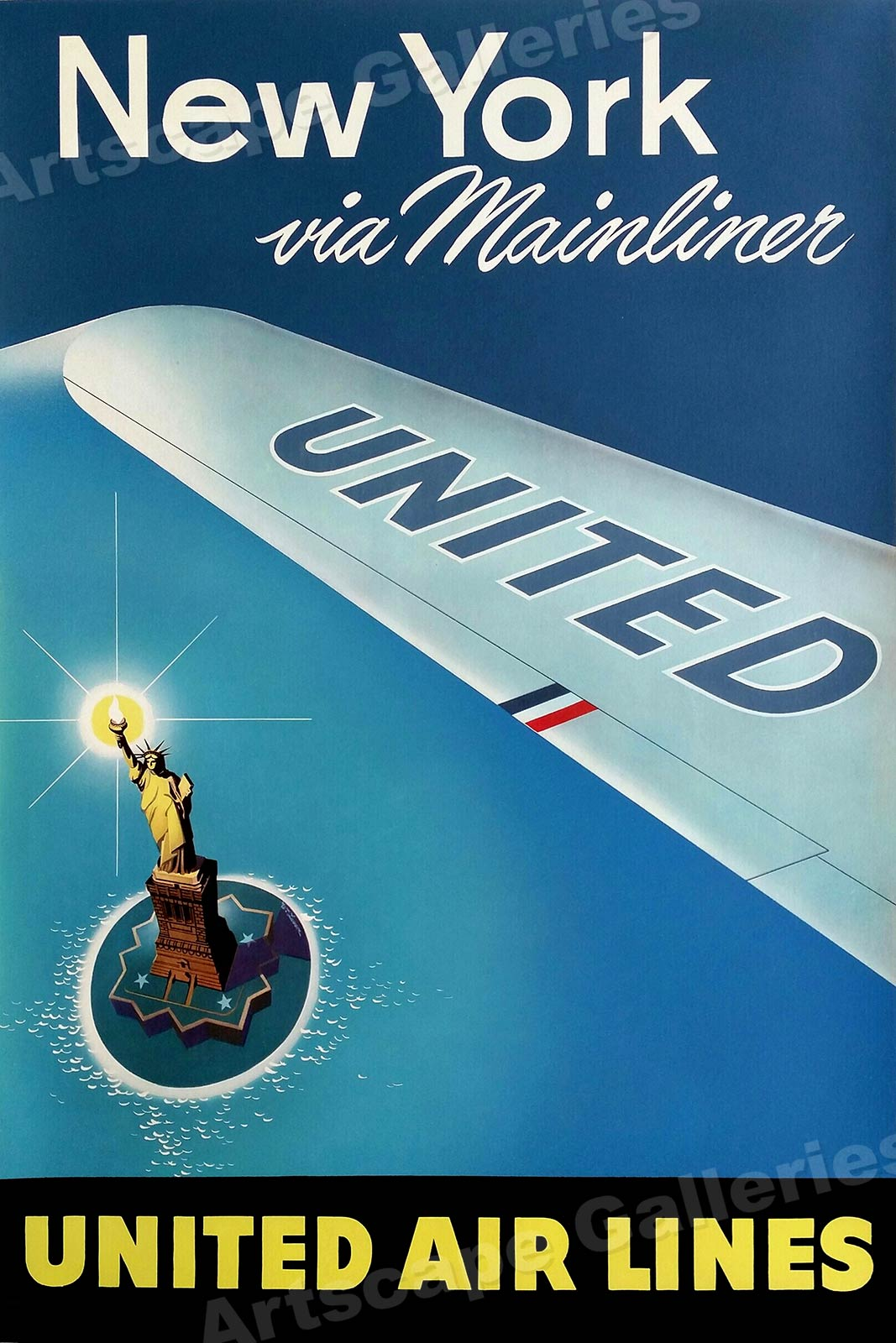1935 Travel Air Land /& Sea Vintage Style Travel Poster 24x36
