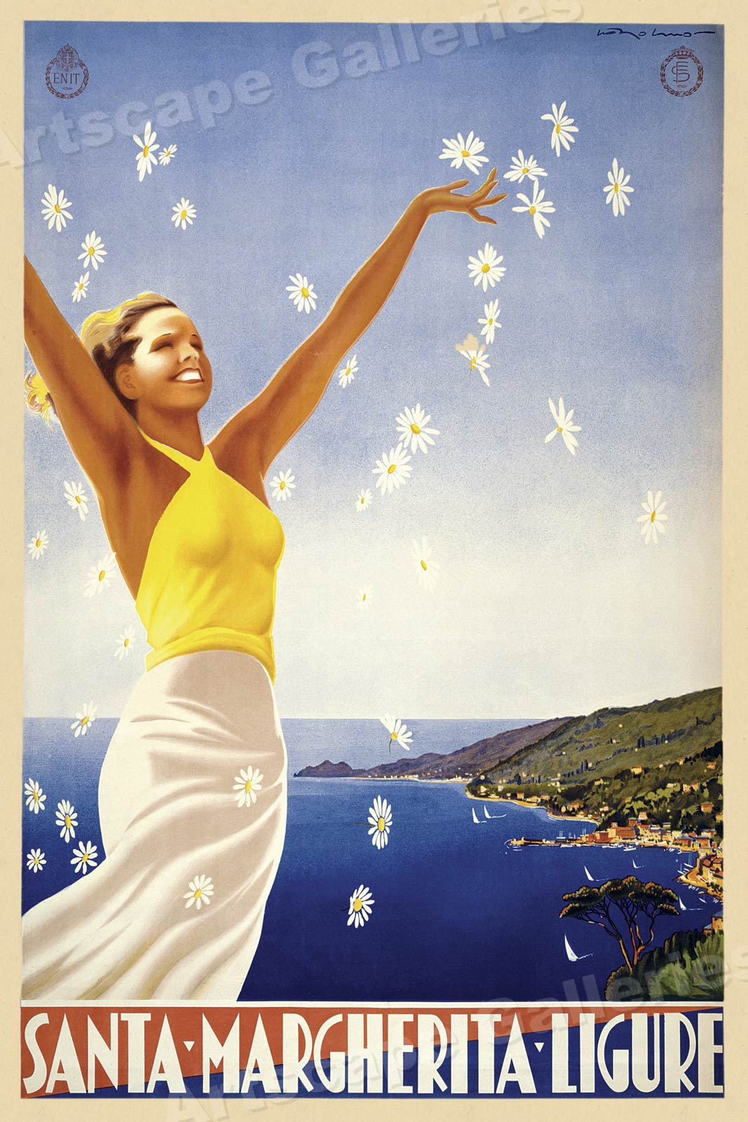 1950s Australia The Great Barrier Reef Vintage Style Travel Poster 24x36