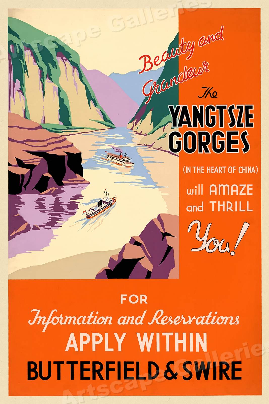 20x30 Visitez La Grece en Auto 1930s Classic Vintage Style Travel Poster