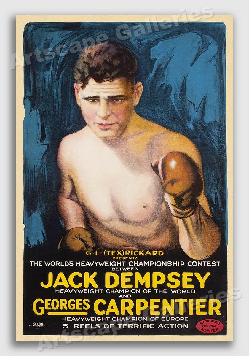 Carpentier vs Jack Dempsey 16x24 1921 Heavyweight Boxing Championship