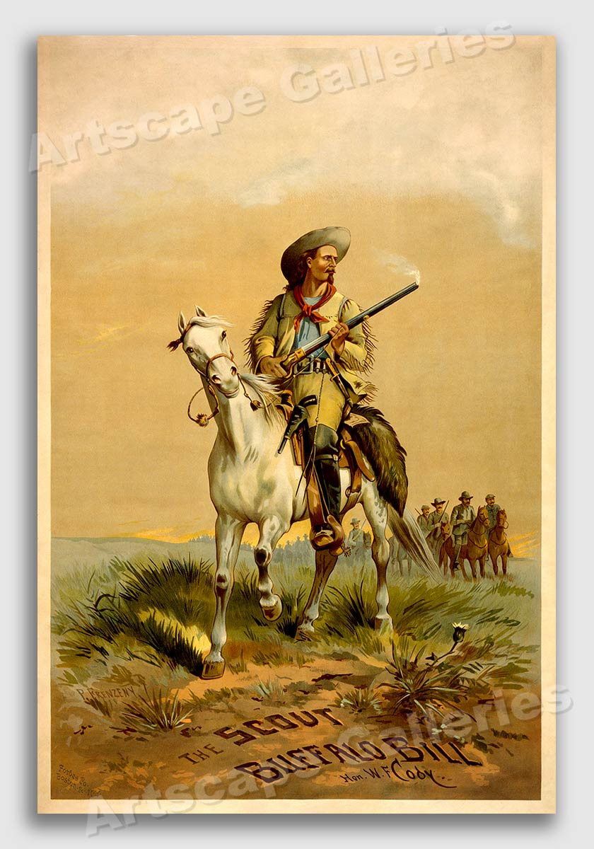 Buffalo Bill US Army Scout 20x30 WF Cody Vintage Poster