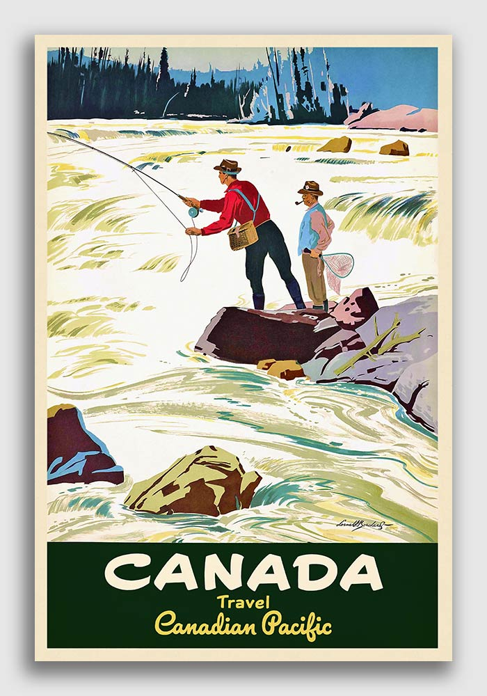 Try a Fly Fishing Vintage  Advertising  Poster reproduction