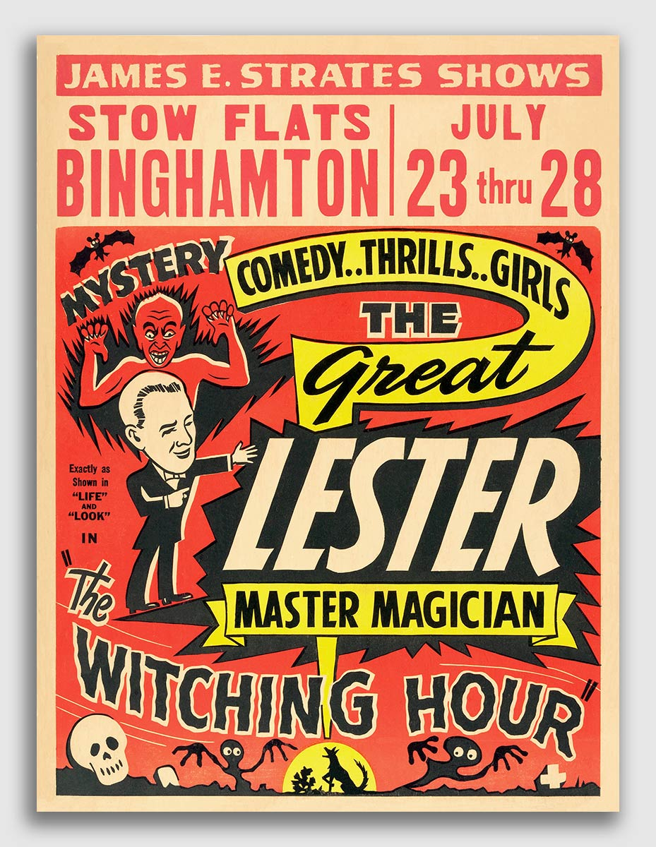 24x32 1951 Great Lester Master Magician Vintage Style Magic Poster