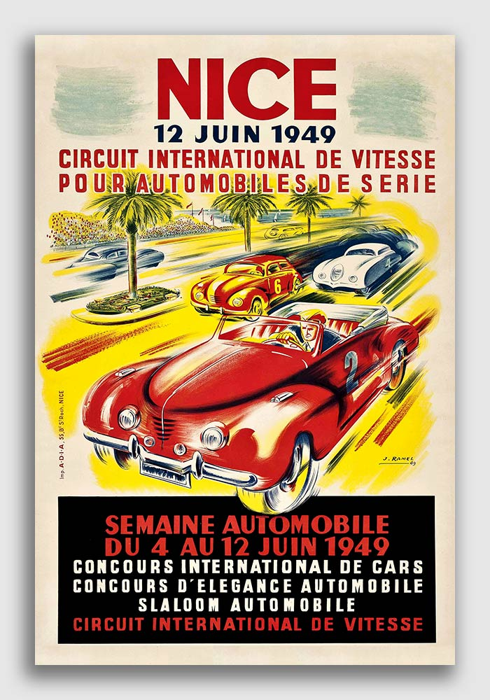 18x24 Harley Davidson GoodYear 1920s Classic Motorcycle Racing Poster
